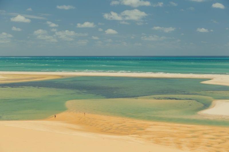 Aerial View of Sea and Beach Bazaruto Mozambique