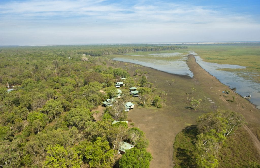 Aerial of Bamurru Plains Northern Australia