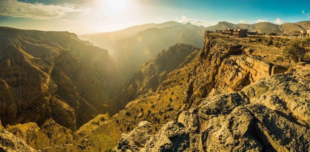 Panoramic Views of Mountains at Alila Jabal Akhdar Oman