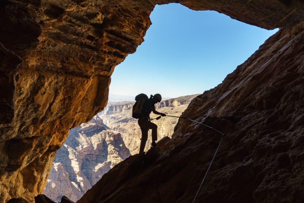 Rock Climbing Experience Alila Jabal Akhdar Oman