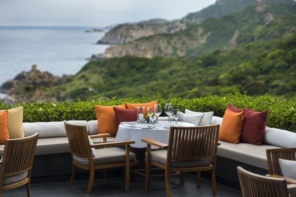 Central Pavilion Restaurant Terrace at Amanoi Vietnam