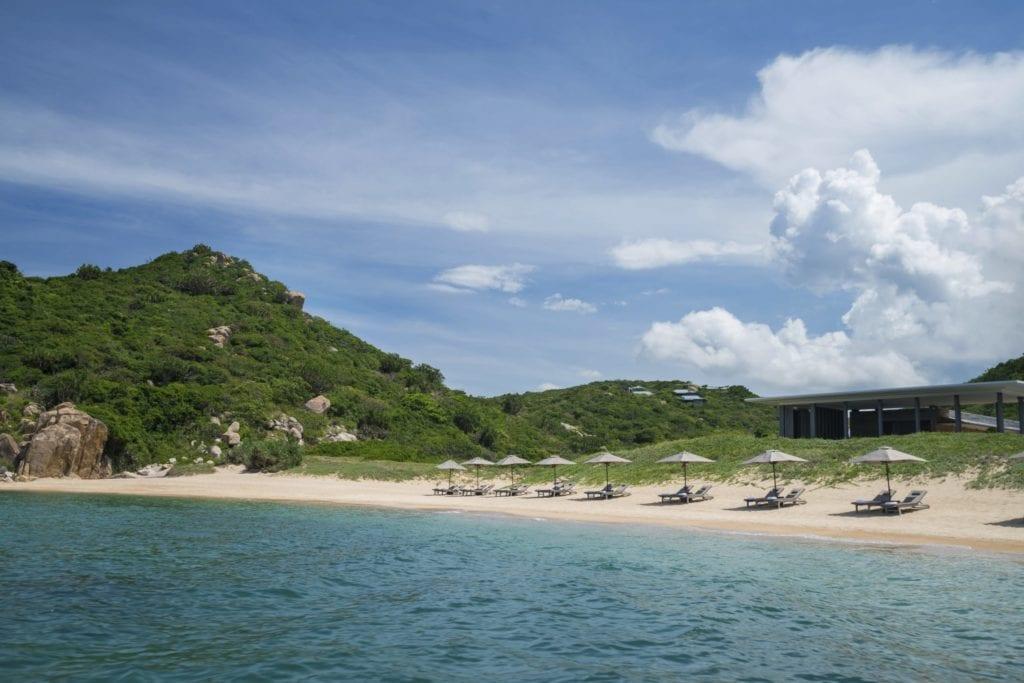 Private Beach and Beach Club in Amanoi Vietnam