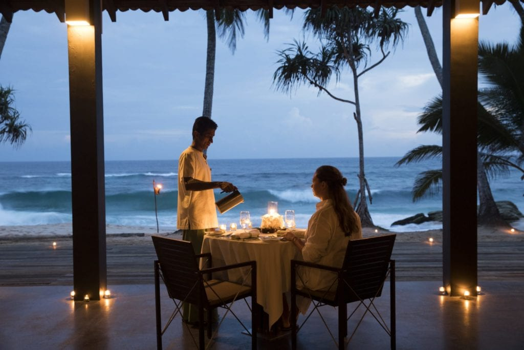 Barbeque Dinner Outdoor at Cocnut Grove Amanwella Sri Lanka