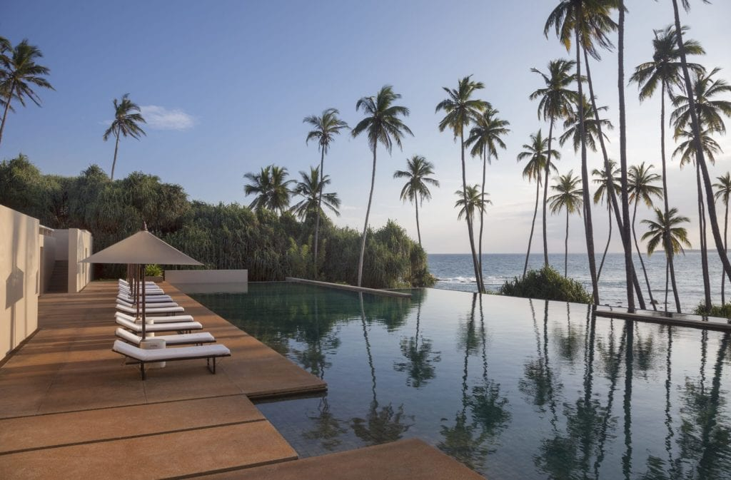 Main Infinity Swimming Pool at Amanwella Sri Lanka