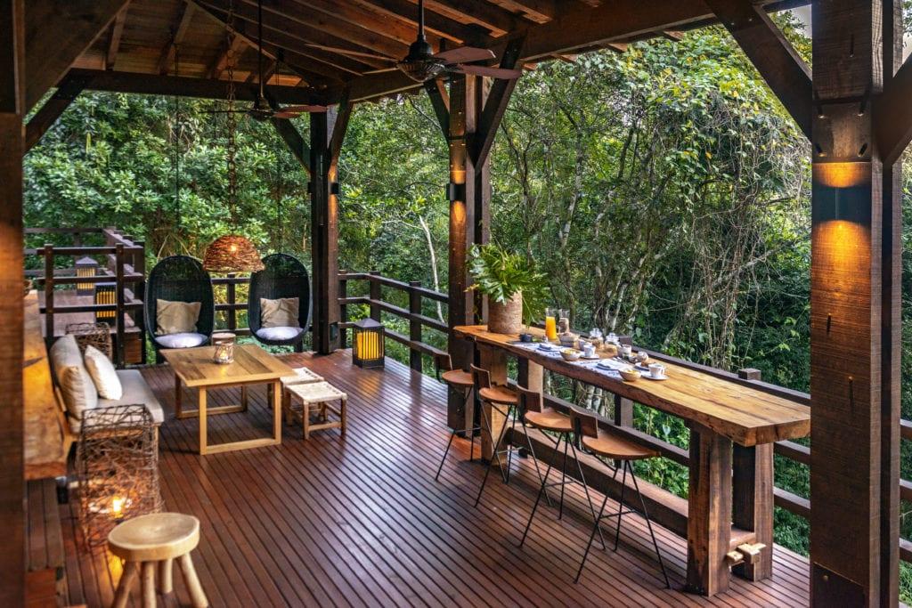 Wooden decking outside Awasi Iguazu Argentina