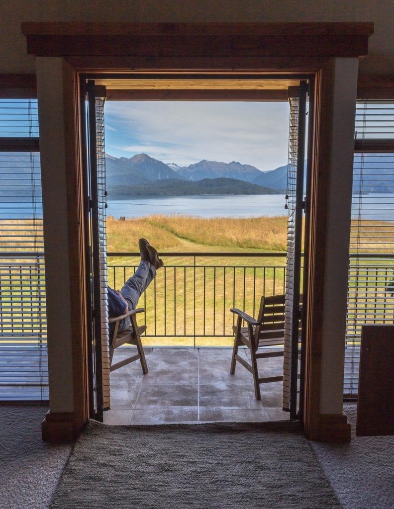 Balcony of Fiordland Lodge New Zealand
