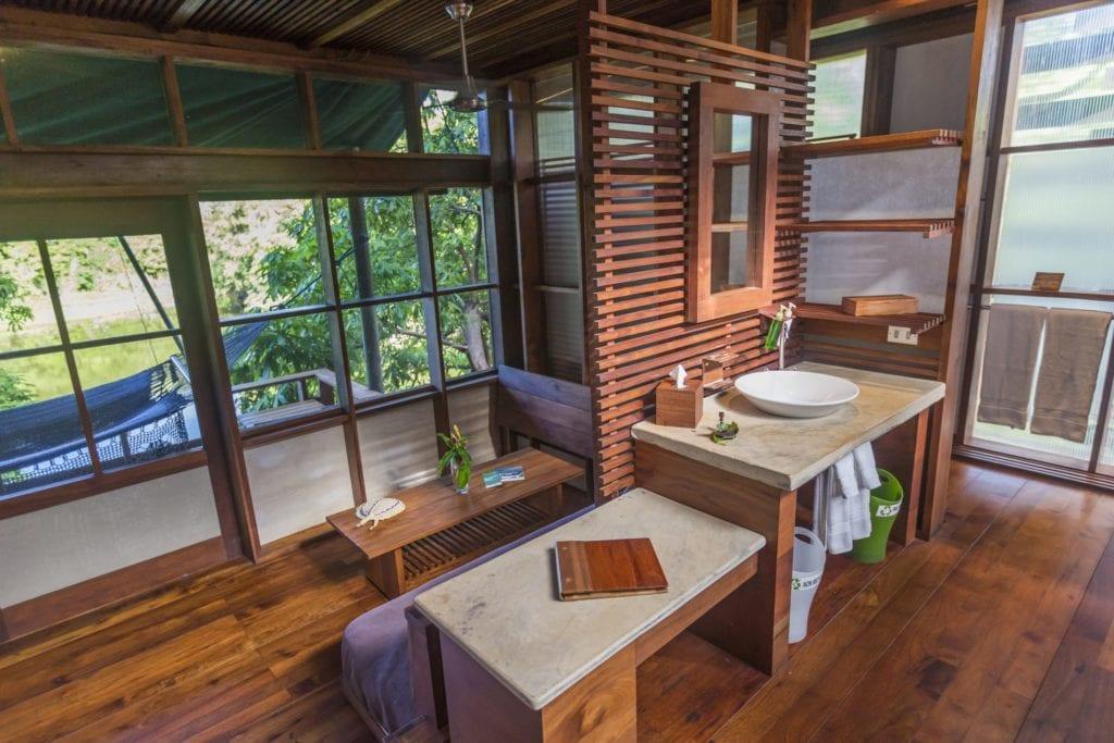 Interior of Bathroom at Jicaro Island Ecolodge in Nicaragua