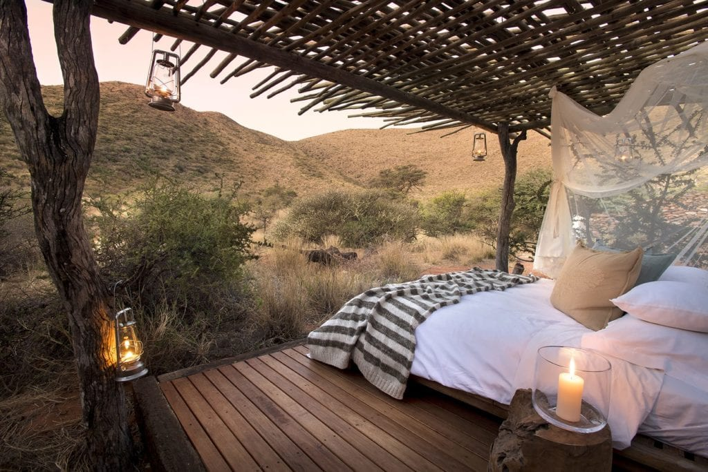 Bed in Nature Exterior Tswalu Kalahari Reserve South Africa