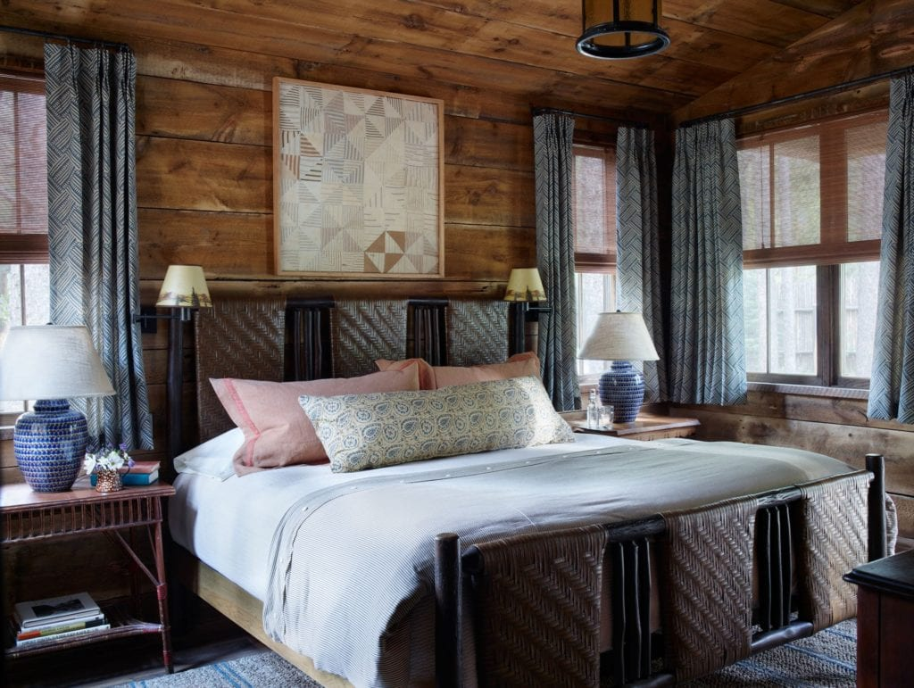 Interior of Bedroom at Taylor River Lodge Colorado USA