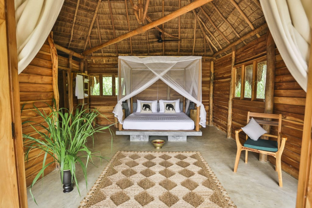 Interior of Room at Gal Oya Lodge Sri Lanka
