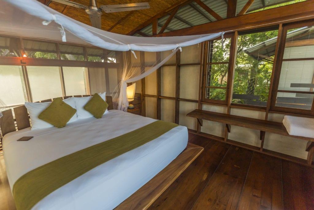 Interior of Bedroom at Jicaro Island Ecolodge in Nicaragua