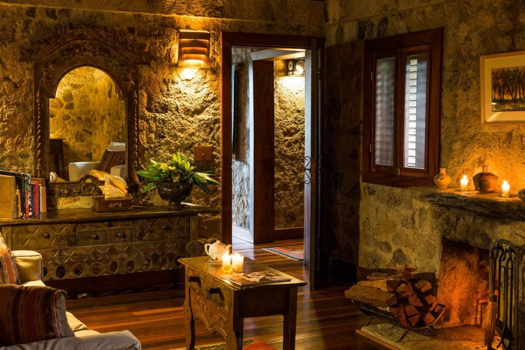 Interior of Blancaneaux Lodge in Belize