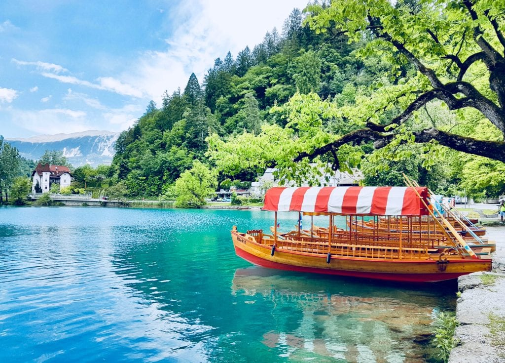 Boat on Slovenian Lake