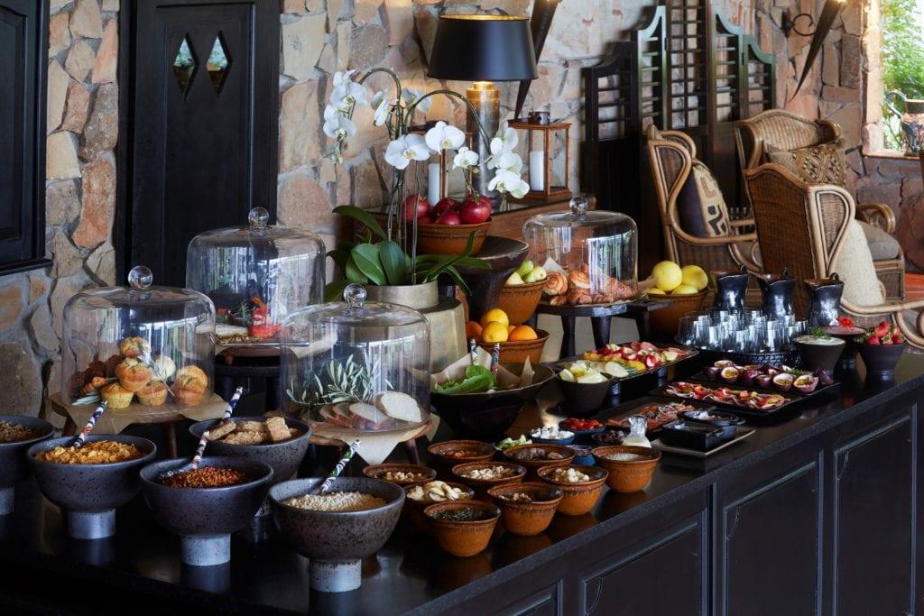 Breakfast Buffet at Bushmans Kloof South Africa