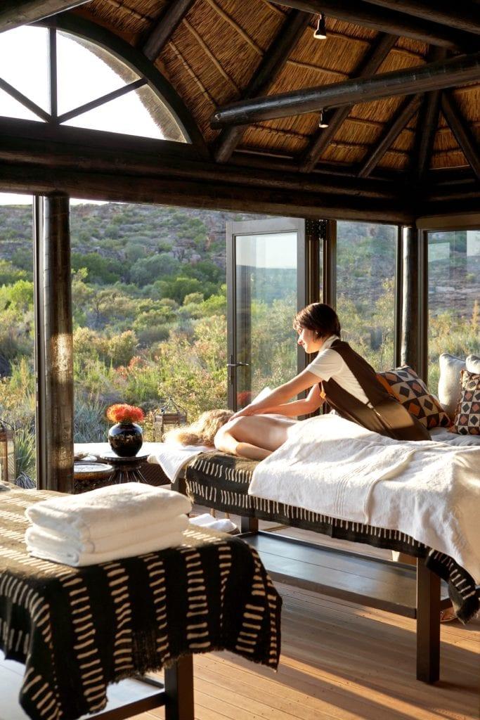 Bushmans Kloof Spa inside a Gazebo South Africa