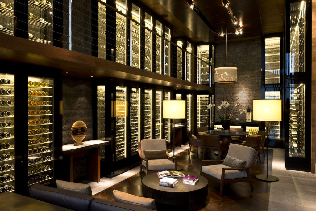 The Wine and Cigar Library at The Chedi Switzerland