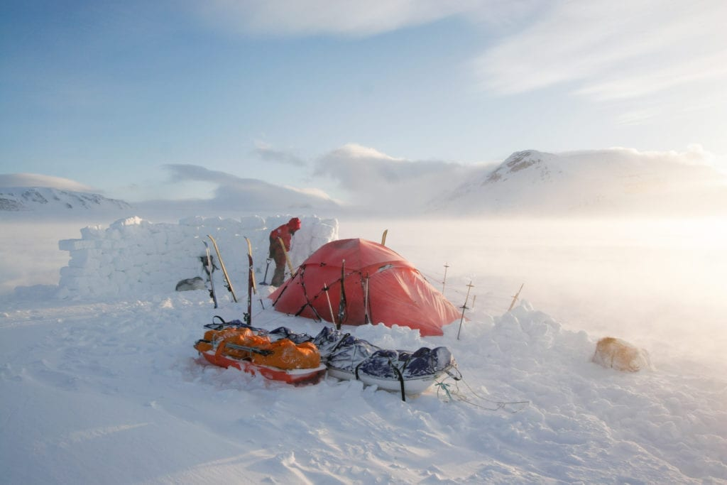 Camping on Svalbard Archipelago, Norway