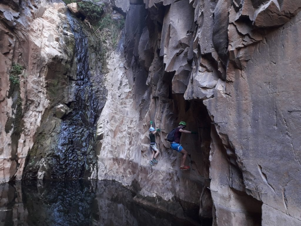 Abseiling Water