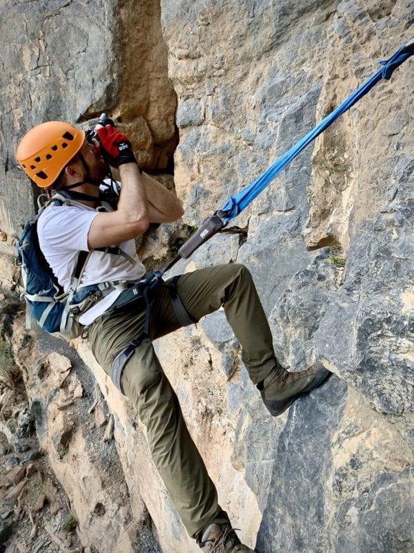 Co-founder climbing
