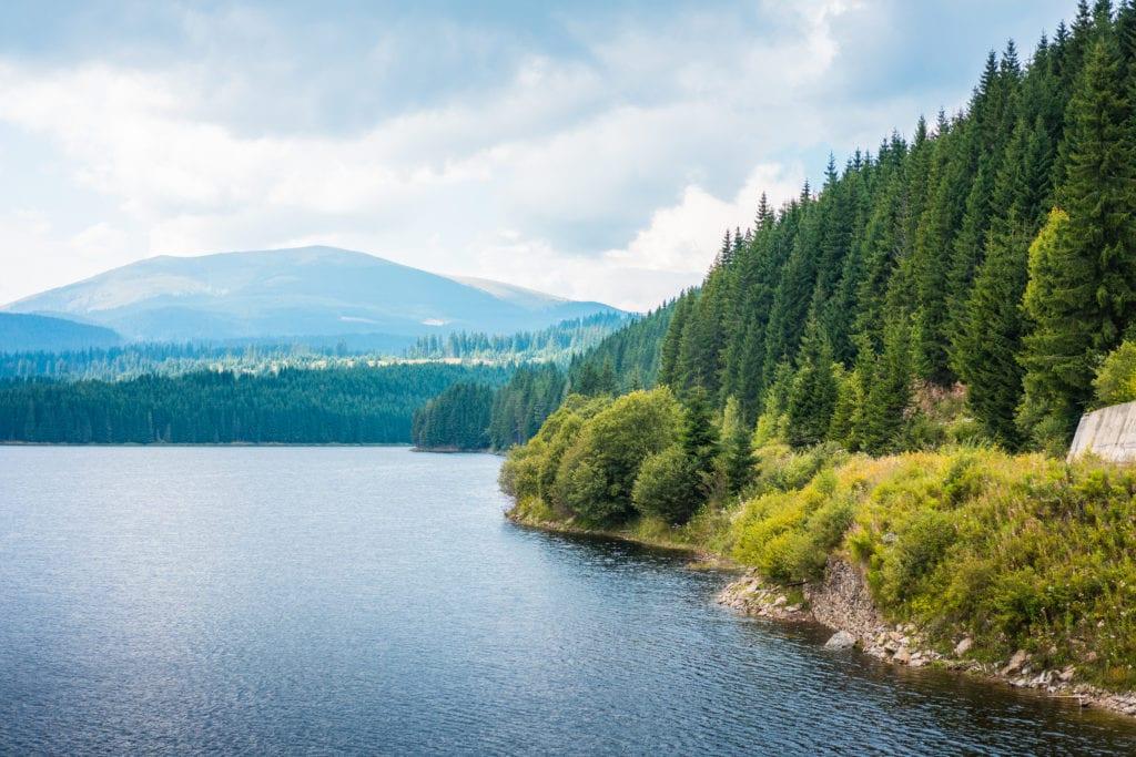 Romania Lake Mountains Forest