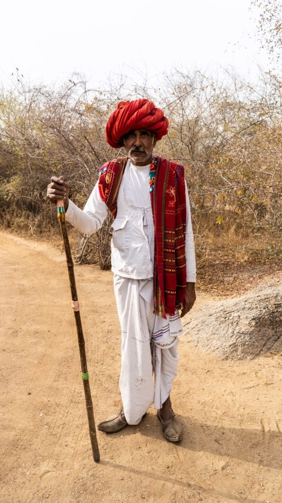 Indian Man Red cloths