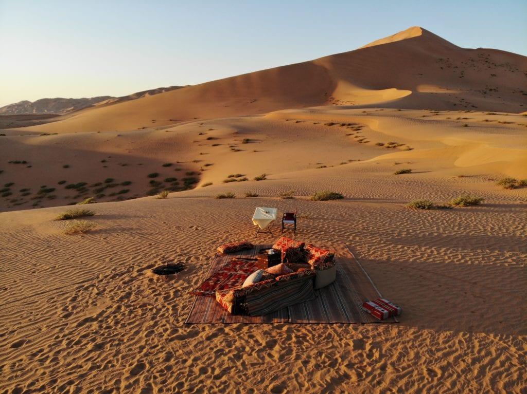 Picnic in Oman Desert