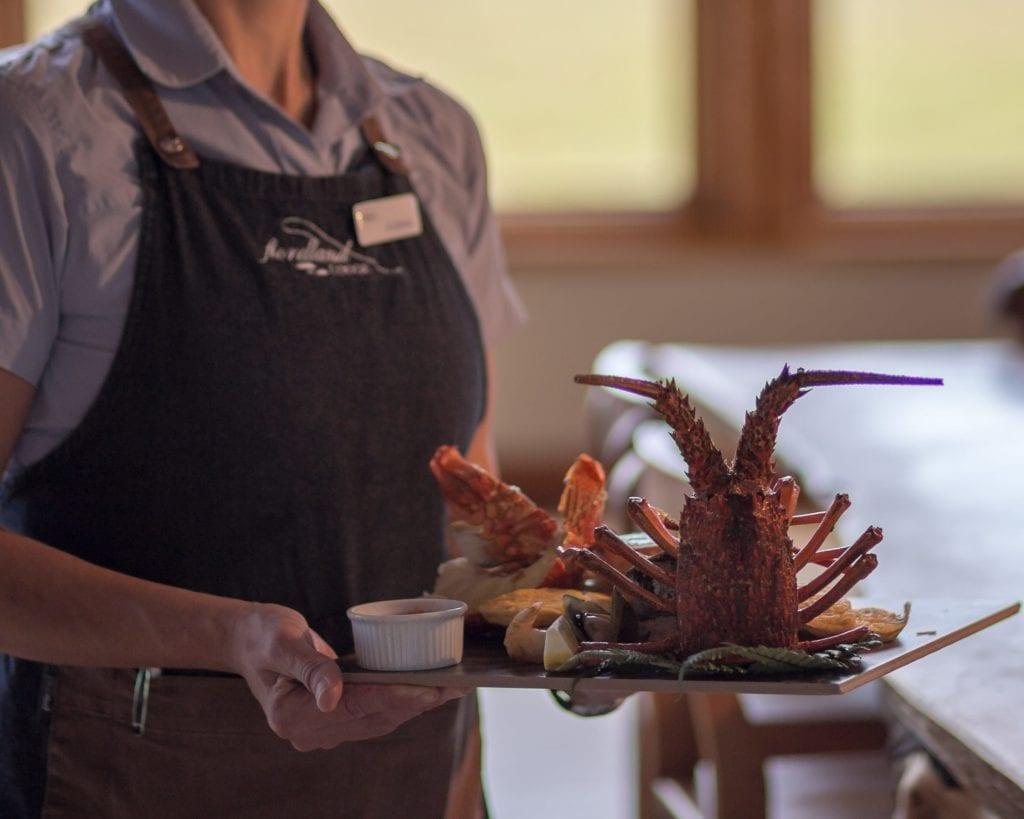 Dining at Fiordland Lodge New Zealand