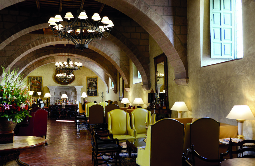 Dining and Lounge Area at Belmond Hotel Monasterio Peru