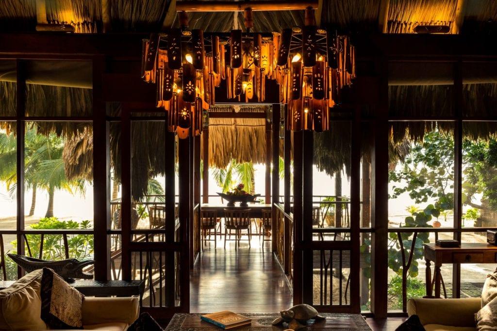 Dining Area Turtle Inn Belize