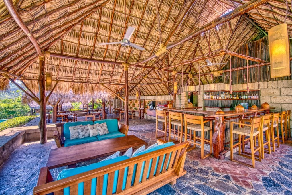 Dining Area and Bar at Morgans Rock in Nicaragua