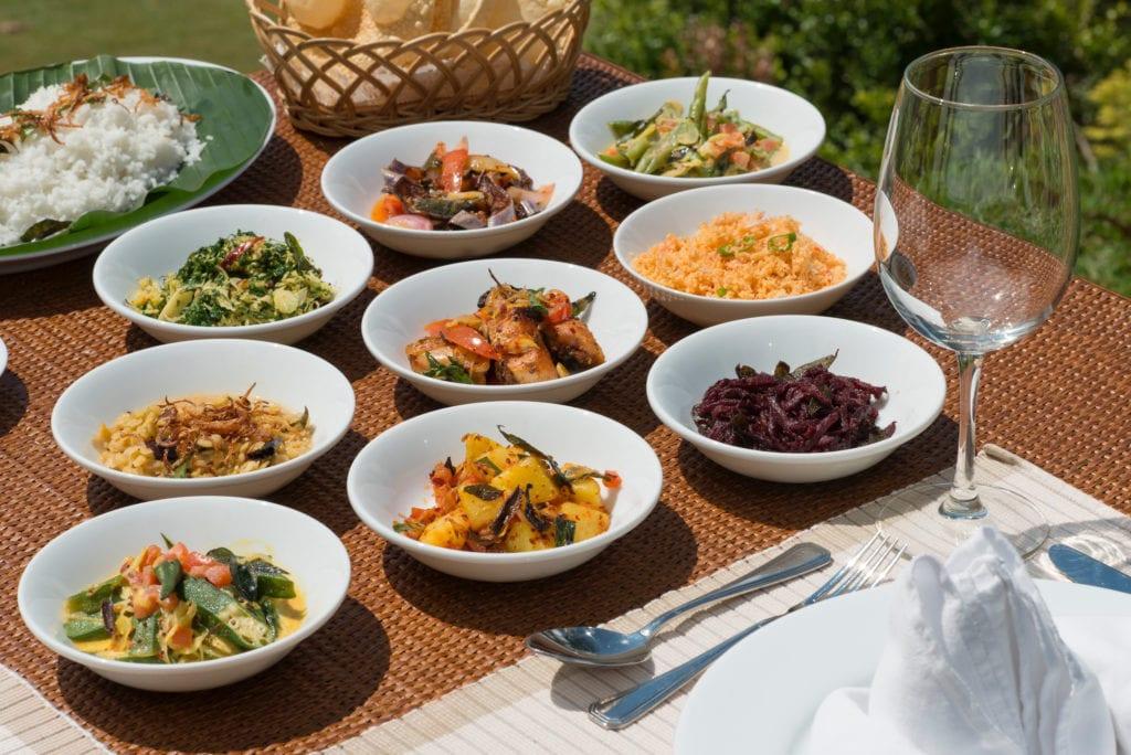 Selection of Sri Lankan delicacies