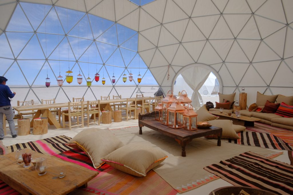 Interior of Dome at Kachi Lodge in Bolivia