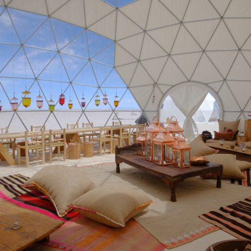 Interior of Dome at Kachi Lodge in Bolivia