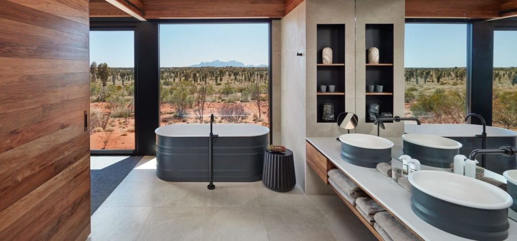 Bathroom Interior of Dune House at Longitude 131 Australia