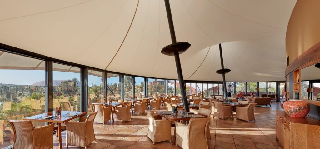 Restaurant Interior at Dune House Longitude 131 Australia