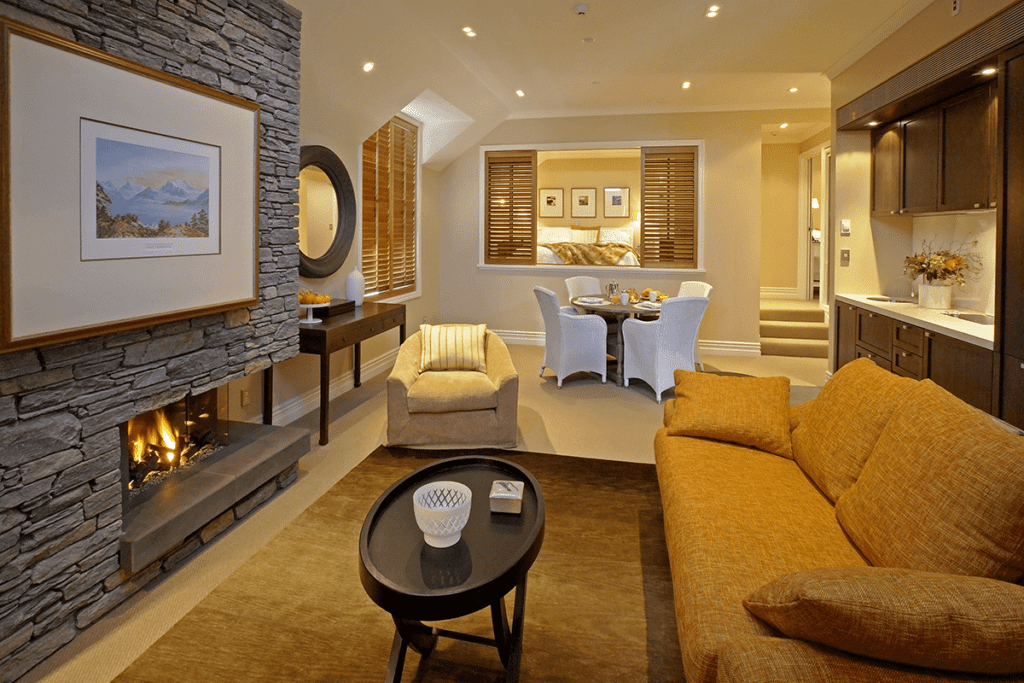 Eichardts Private Hotel Seating Area New Zealand