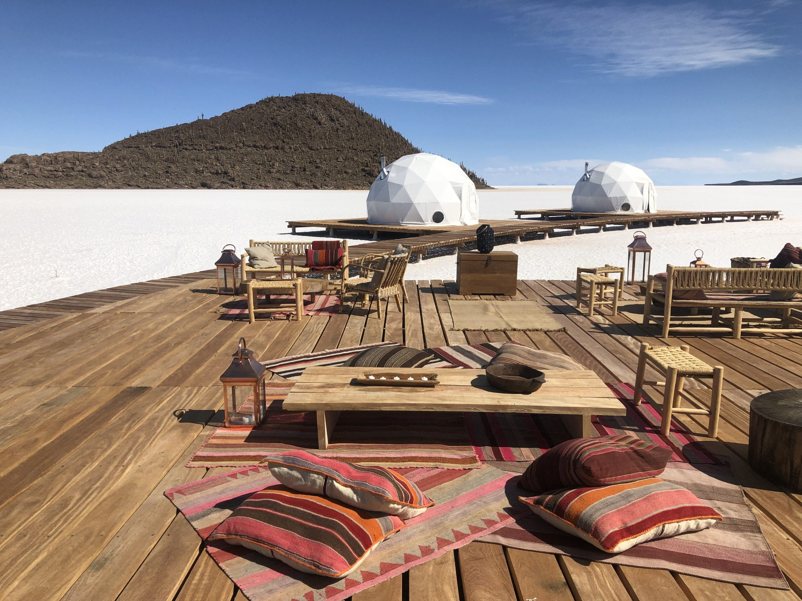 Exterior Lounge at Kachi Lodge in Bolivia