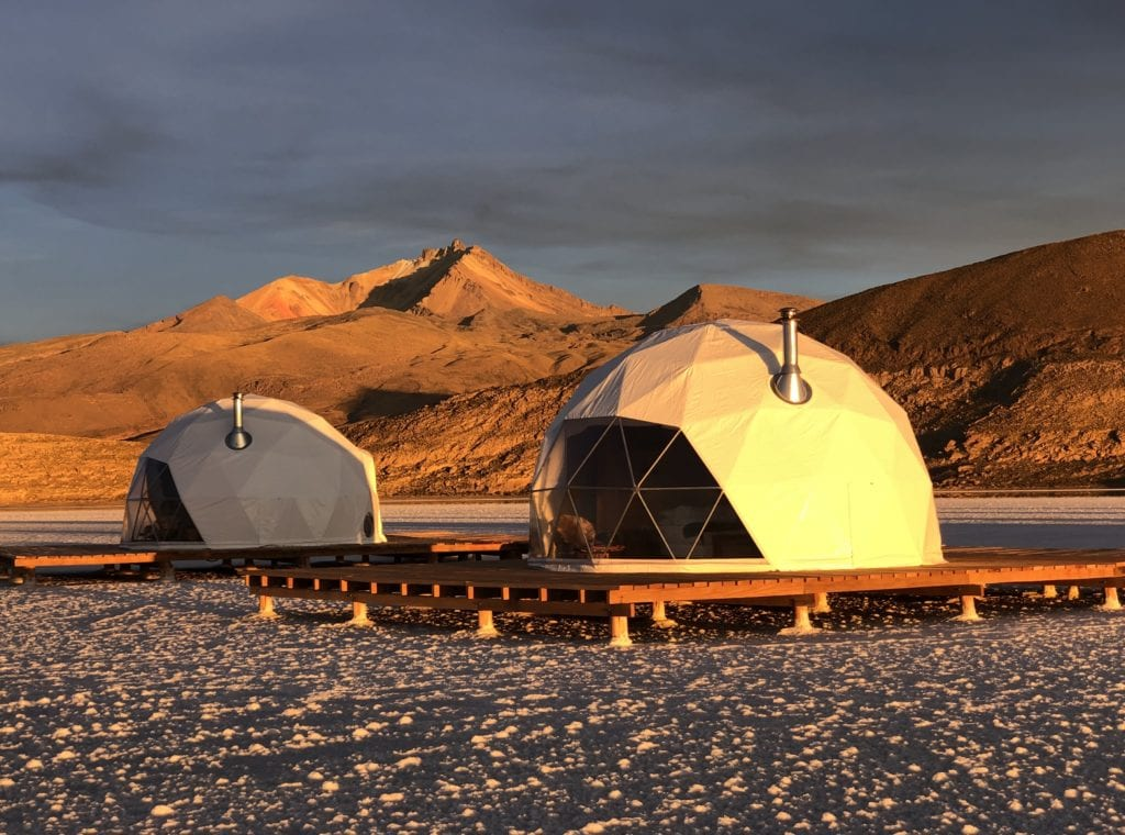 Exterior of Domes at Kachi Lodge in Bolivia