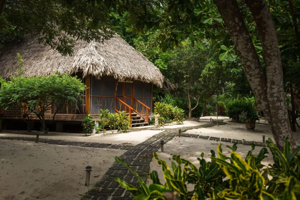 Exterior of Rooms at Turtle Inn Belize