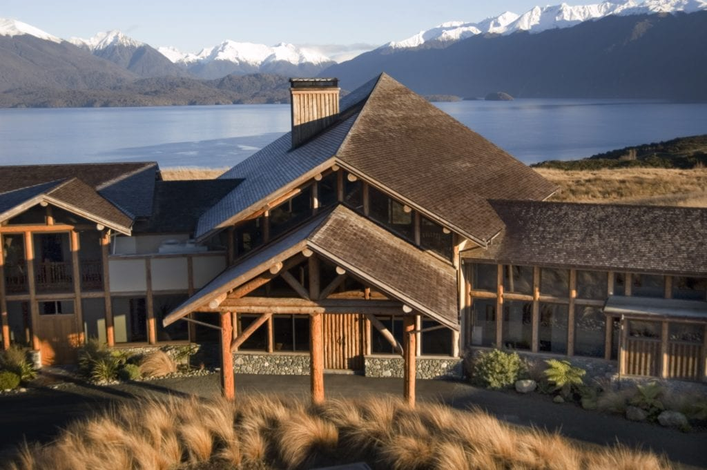 Exterior of Fiorland Lodge New Zealand