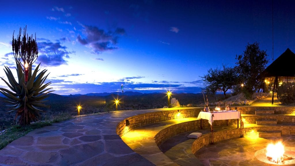 Firepit and Star gazing area at GocheGanas Nature Reserve and Wellness Village Namibia