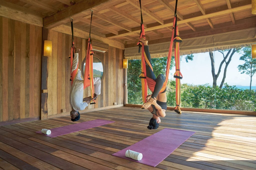 Flying Yoga at Six Senses Ninh Van Bay Vietnam