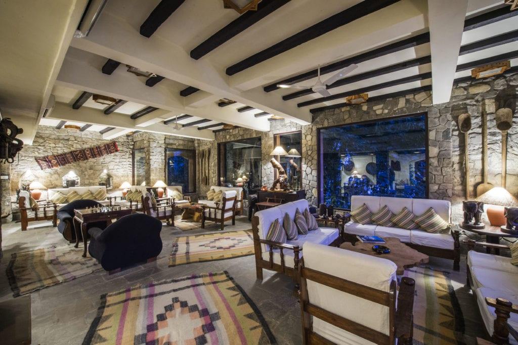 Fusion Bar interior at Dwarikas Resort in Nepal