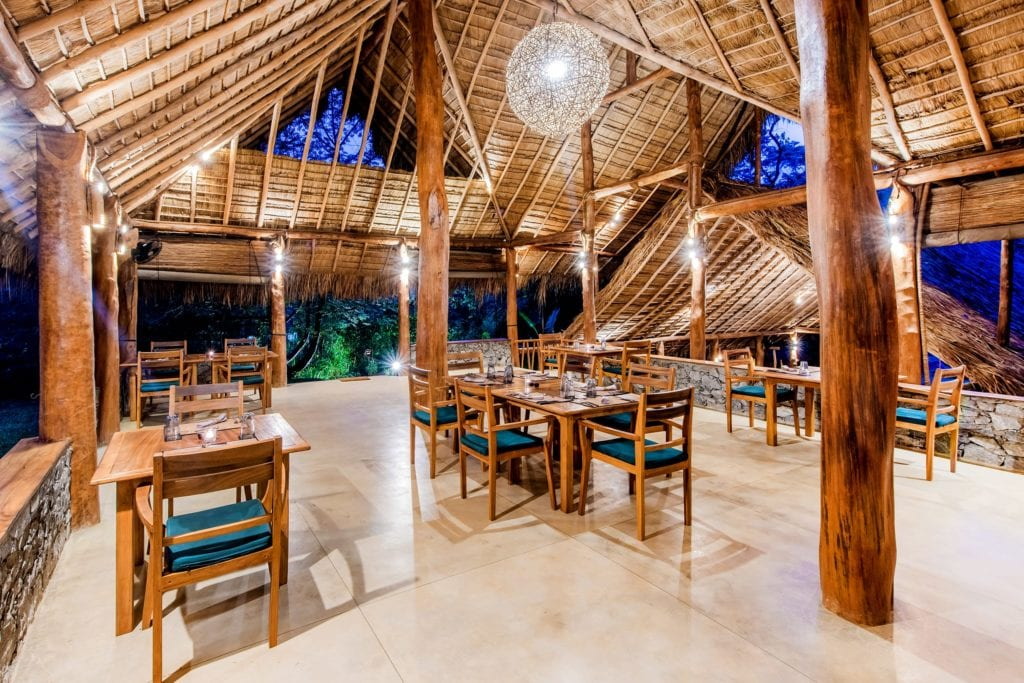 Dining Area Interior at Gal Oya Lodge Sri Lanka