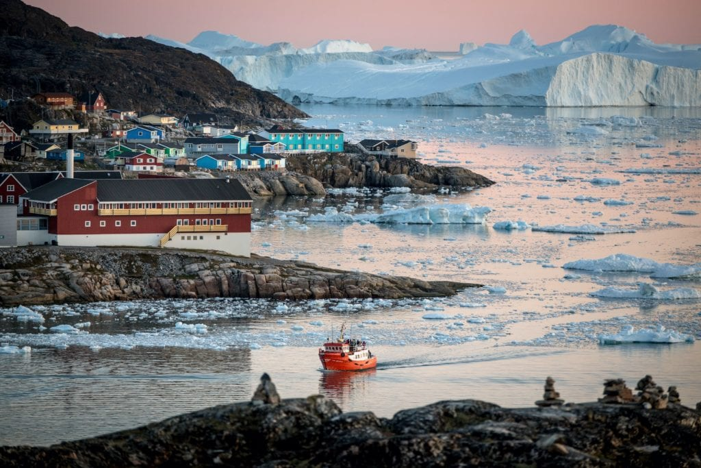 Boat Ilulissat Greenland Fjord