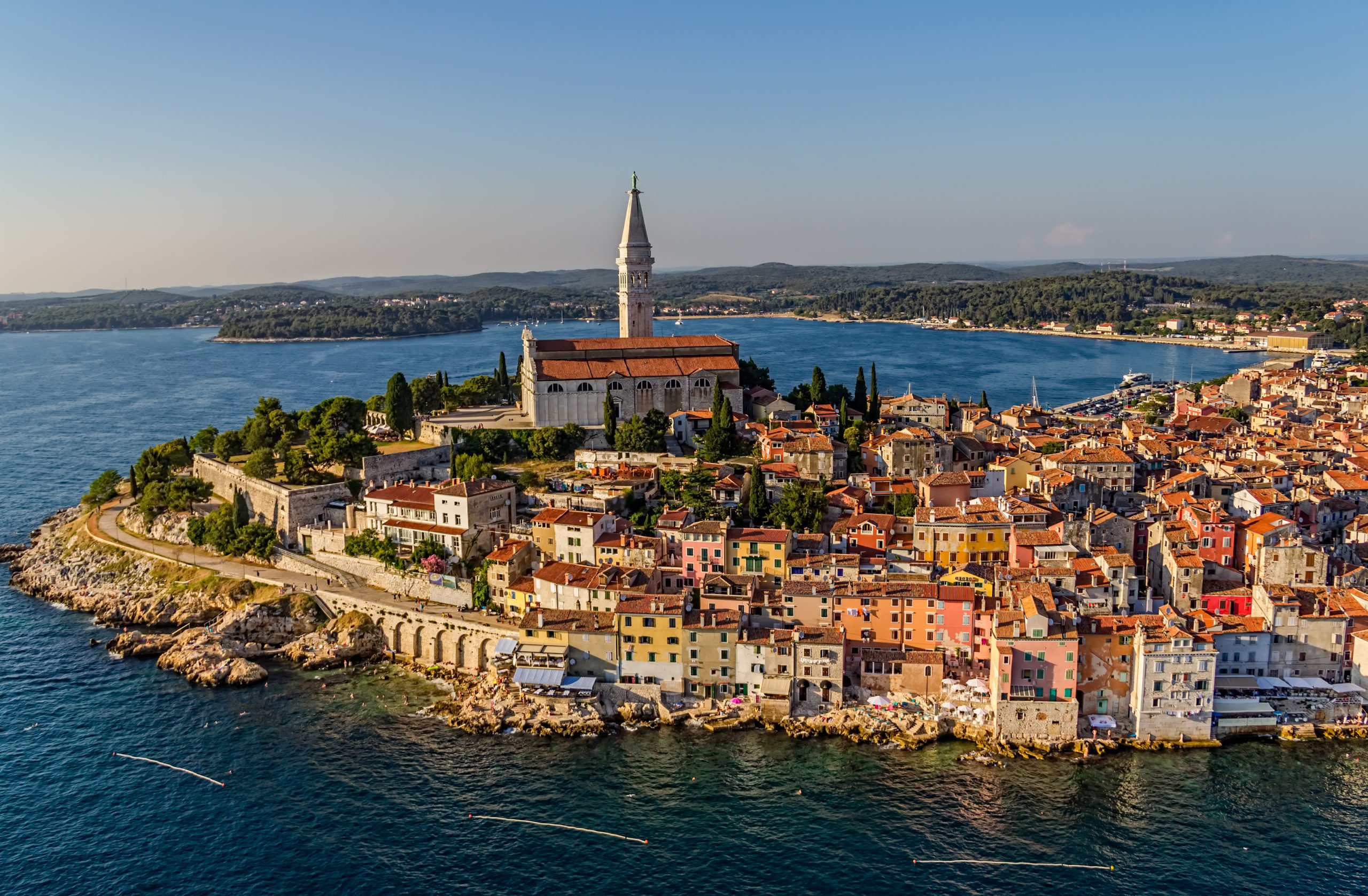 HERO Aerial shoot of Rovini Croatia