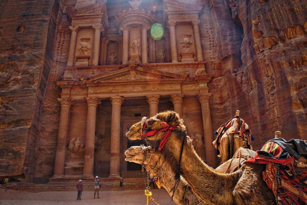 Camels in front of Petra