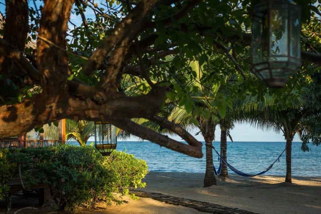 Hammocks on the Beach at Turtle Inn Belize