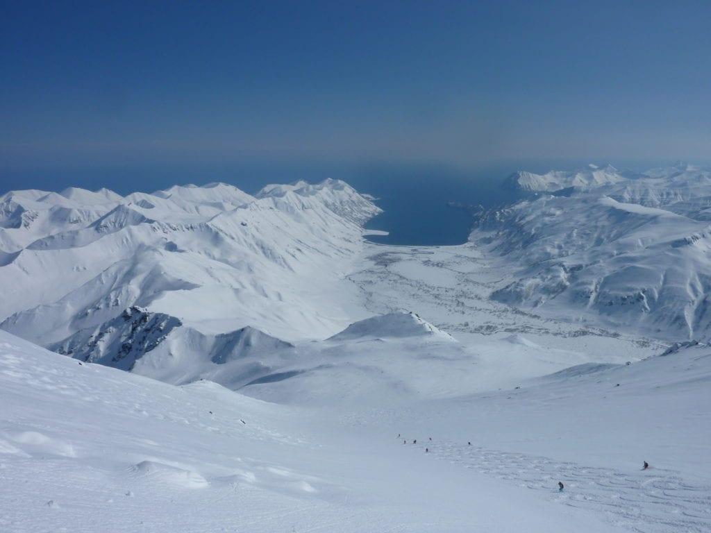 Heli-skiing the Kamchatka Peninsula in Russia