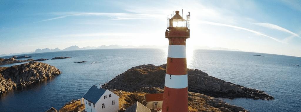 Henningsvaer Lighthouse in Norway